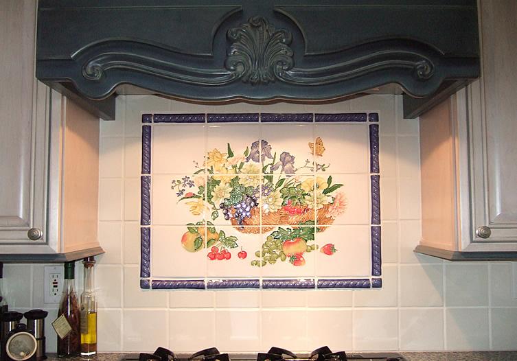 Impressive Ceramic Tile Kitchen Backsplash Murals 753 x 526 · 174 kB · jpeg